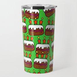 Birthday Cake Background Design Travel Mug