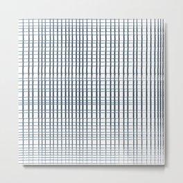 thin blue lines crosshatch Metal Print