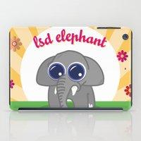lsd iPad Cases featuring LSD Elephant by flydesign