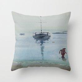 Morning at Sea Throw Pillow