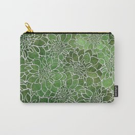 Dahlia Flower Pattern 4 Carry-All Pouch