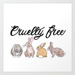 Cruelty Free- au naturelle bunnies Art Print