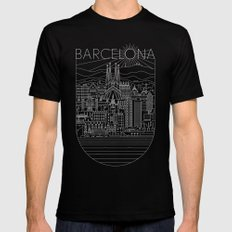Barcelona MEDIUM Black Mens Fitted Tee
