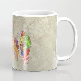 Painted feathers Coffee Mug