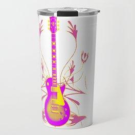 Guitar With Tribal Graphics Travel Mug