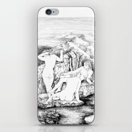 3 women bathing iPhone Skin