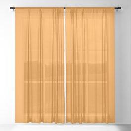 Sacral Orange Sheer Curtain