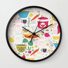 Eat Your Veggies! Wall Clock