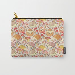 Woodland Hedgehogs - a pattern in soft neutrals  Carry-All Pouch