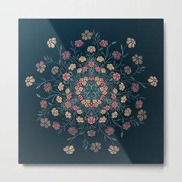 Pretty Pastels Dark Floral Watercolors Metal Print