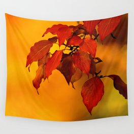 VIVID AUTUMNAL LEAVES Wall Tapestry