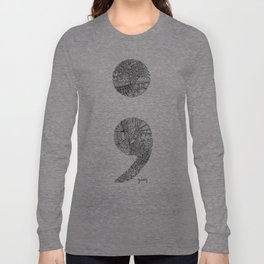 Patterned Semicolon #2 Long Sleeve T-shirt