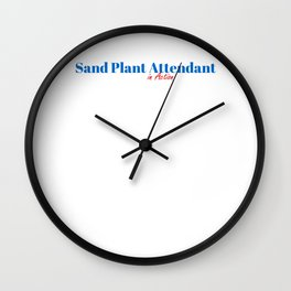 Happy Sand Plant Attendant Wall Clock