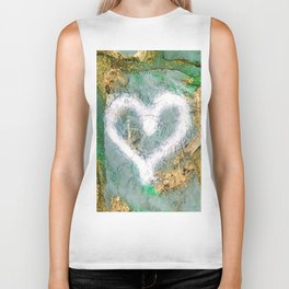 graffiti heart Biker Tank