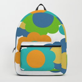 Retro Vintage Bundle of Flowers - Turquoise Backpack