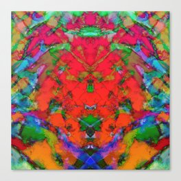 Little red symmetry Canvas Print