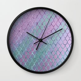 Mermaid Princess Glitter Scales Glam #1 #shiny #stripes #decor #art #society6 Wall Clock