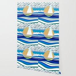 Sailors Geometry of Sailing Abstract Wallpaper