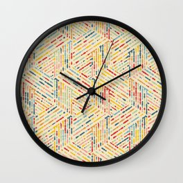 Colorful Vintage Colors Ink Drops Wall Clock