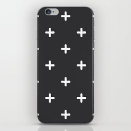 White Crosses on Charcoal Grey iPhone Skin