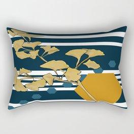 Gingko and hexagons Rectangular Pillow