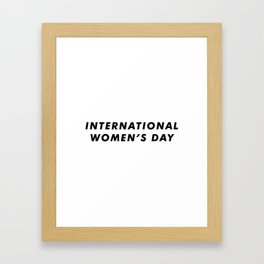 International Women's Day Aesthetic Framed Art Print