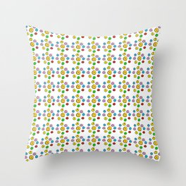 Circle and abstraction 6-,abstract,geometric,geometrical,circle,sphere Throw Pillow