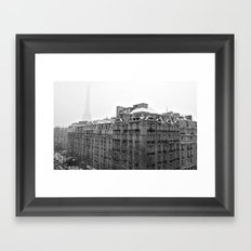 Paris Snow Framed Art Print