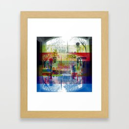 Remembering rushing through but without obstacles. [CMYK] Framed Art Print