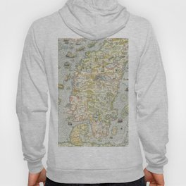 Vintage Map of Scandinavia, 1539 Hoody