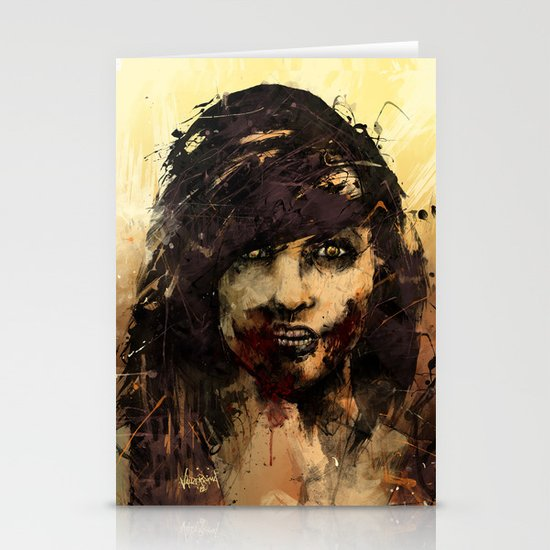 Female Zombie Stationery Cards