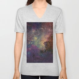 univers abstrait Unisex V-Neck