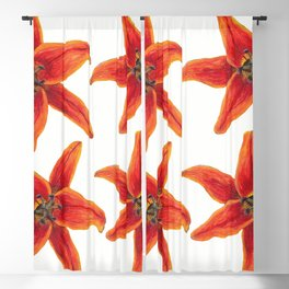 Wildflower Watercolor Lily Four of a Kind Blackout Curtain