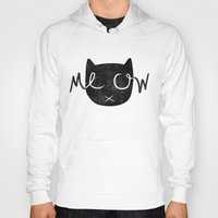 meow Hoodies featuring Meow by Laura O'Connor
