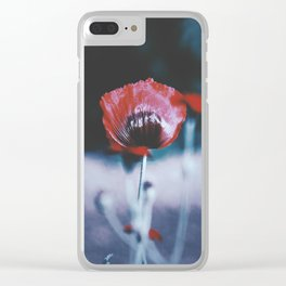 Poppy Head Clear iPhone Case