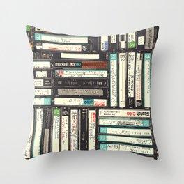 Cassettes Throw Pillow