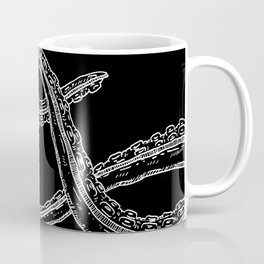 Touching Woodcut Style Cthulhu Octopus Tentacles Coffee Mug