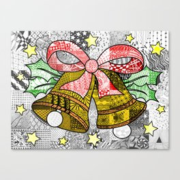 Coloured Christmas Bells Canvas Print