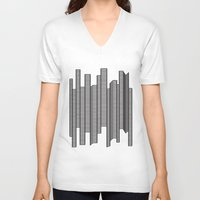 skyline V-neck T-shirts featuring Skyline by The New Minimalist
