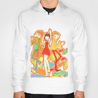 70s Hoodies featuring 70s Disco Fever by Little Cello