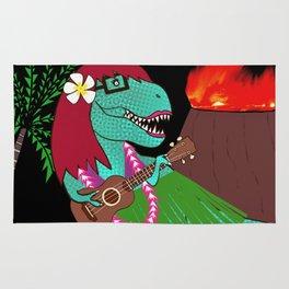 Hawaiian Dinosaur Ukulele Rug