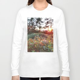 Evening glow in the forest Long Sleeve T-shirt