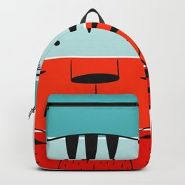 Wall Art, Cute Tiger Animal Clip Art, Retro Sunset Backgroud Backpack