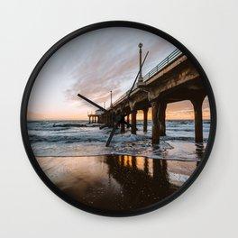 MANHATTAN BEACH PIER II Wall Clock