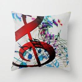 Music Music Music! Throw Pillow