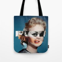 goddess Tote Bags featuring Goddess by Alba Blázquez