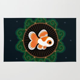 Butterfly goldfish - white Rug