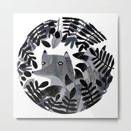 El zorro de las nueve colitas Metal Print