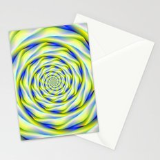 Vortex in Blue and Yellow Stationery Cards