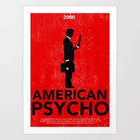 american psycho Art Prints featuring American Psycho by Moustafa Hassan